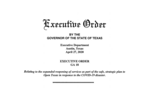 Governor's Executive Order